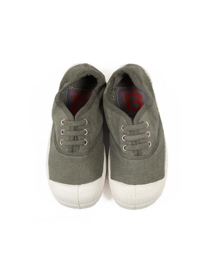 Lonetas Bensimon color kaki con cordones.