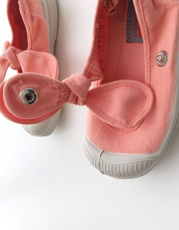 Lonetas Bensimon con lazada color coral