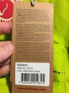 etiqueta kanken original cara b 225x300 - Mochila Kanken: ¿como distinguir original o falsa?