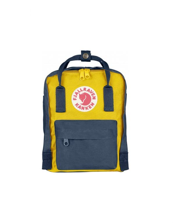 Kånken backpack in little format with long shoulder straps that can be adjusted to fit both children and adults. Removable seat pad.