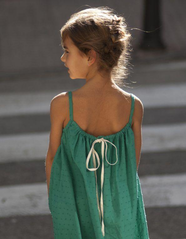 vestido plumeti verde no sin valentina c