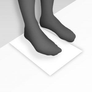 como medir el pie paso 1