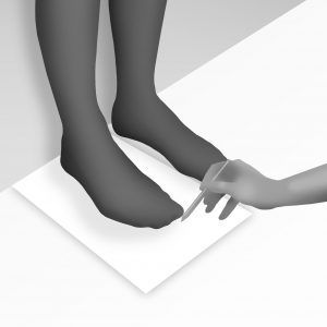 como medir el pie paso 2 300x300 - ¿Cómo medir el pie de un niño?