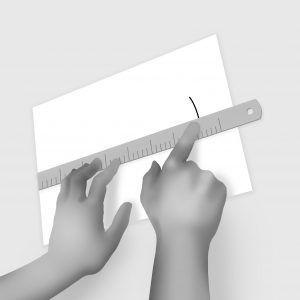 como medir el pie paso 3