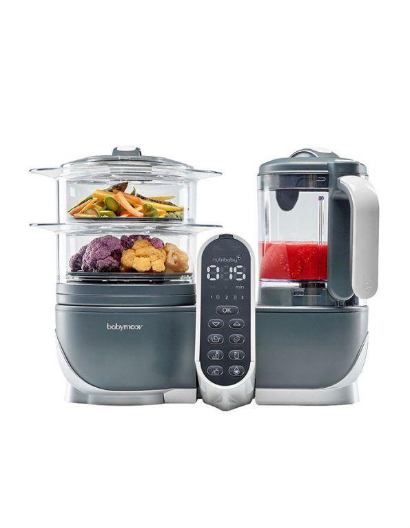 Robot de cocina Nutribaby. El preparador ideal de comidas para el bebé. 4 en 1: Calienta-biberones, Esterilizador, Cocción al vapor y Batidora