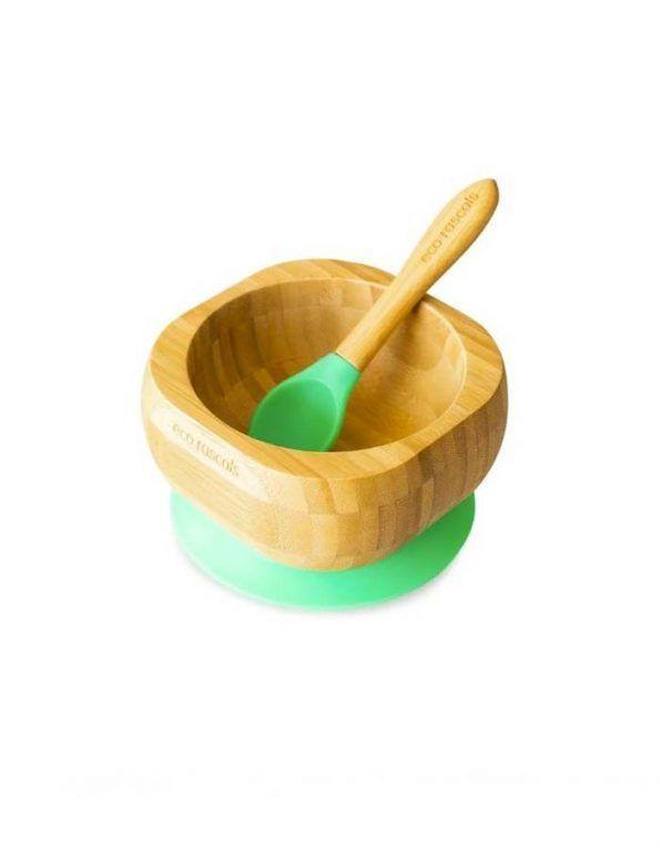 bol-bamboo-verde-con-cuchara-de-eco-rascals verde