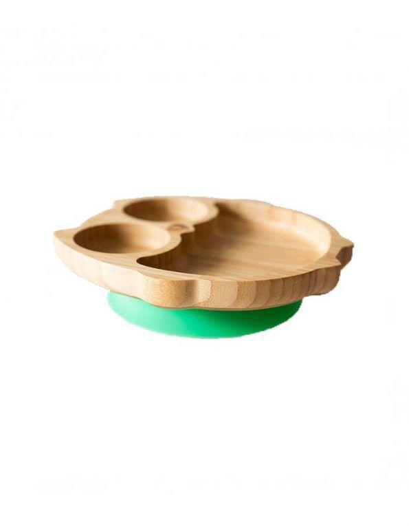 plato-buho-verde-de-eco-rascals verde