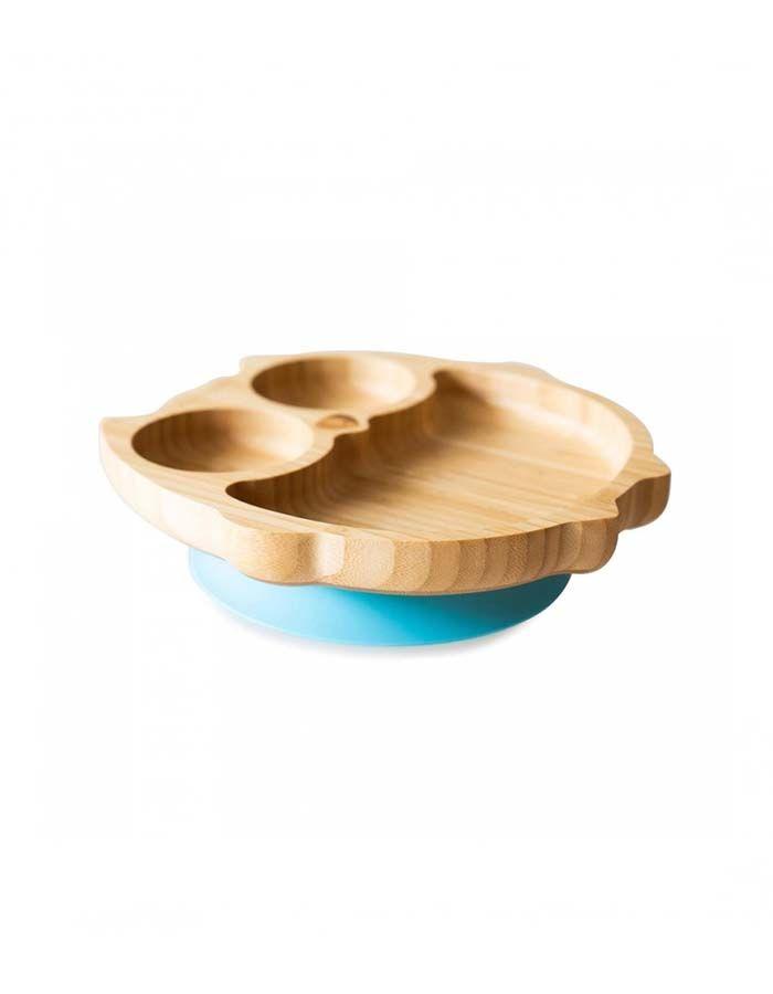 plato-con-ventosa-de-bambu-de-eco-rascals azul wearekiddys