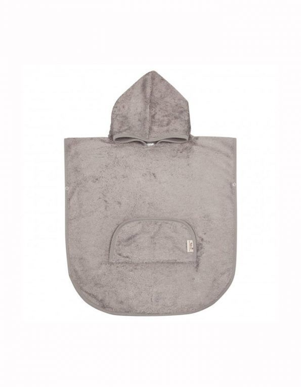 poncho con capucha timboo anthracite wearekiddys