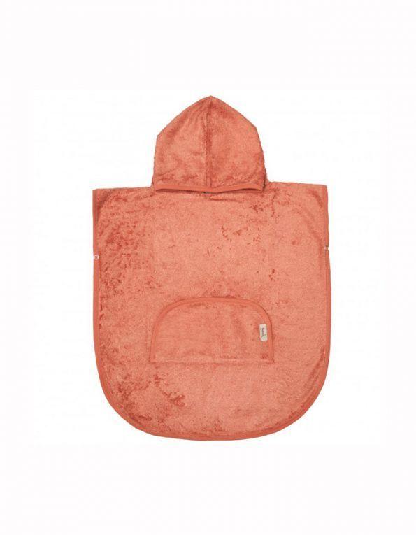poncho con capucha timboo apricot blush wearekiddys