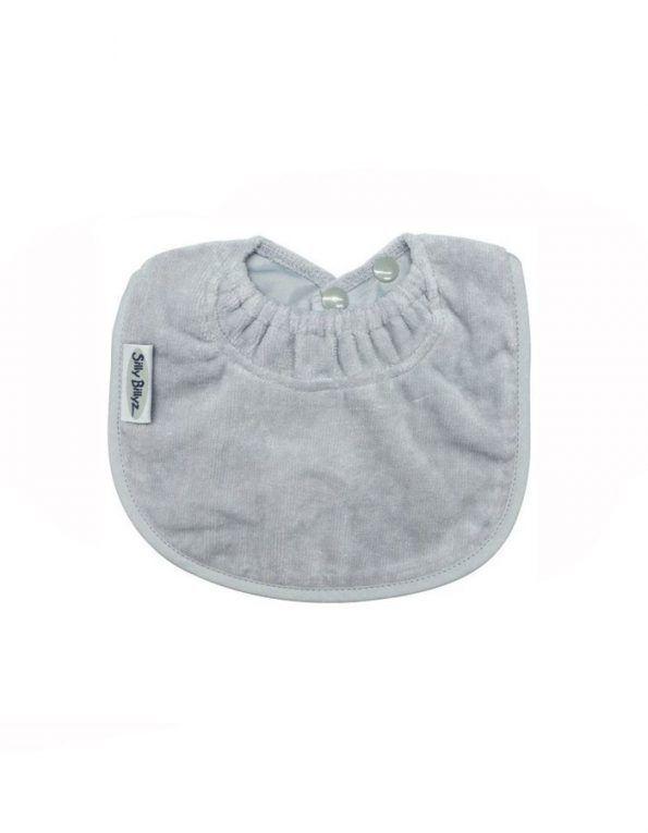 babero-infantil-antimanchas-silly-billyz-gris-claro-wearekiddys