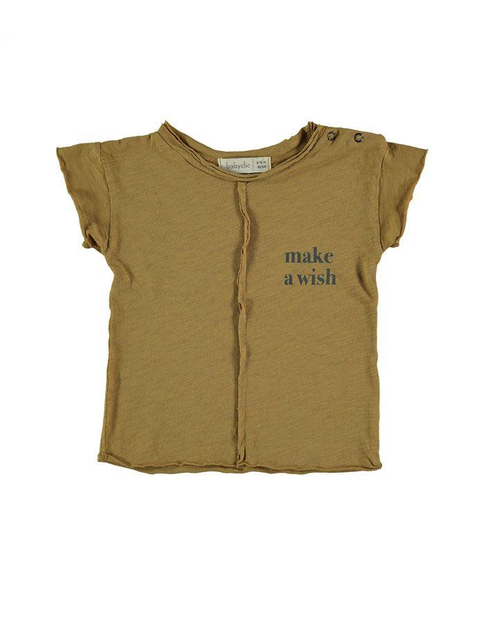 camiseta Wish ocher baby clic