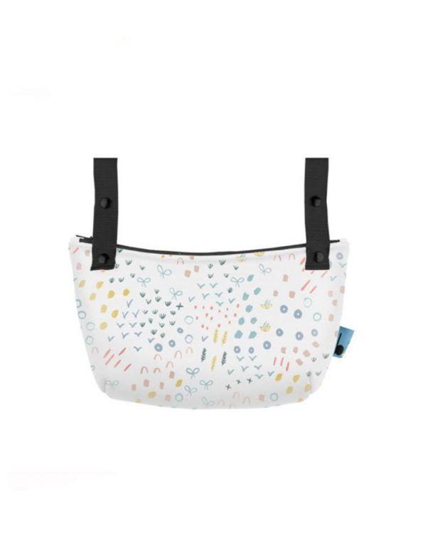 organizador silla paseo baby clic estampado confeti