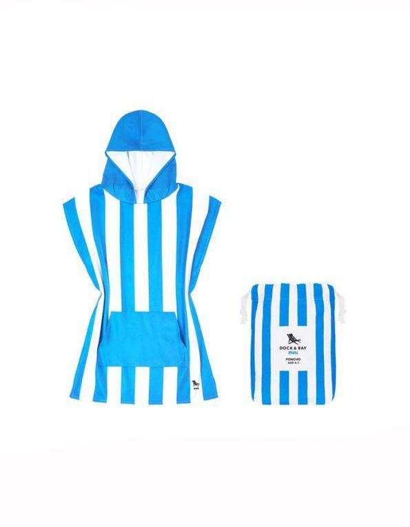 poncho playa dock & bay color azul