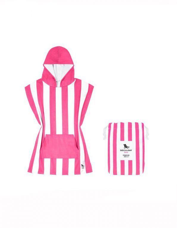 poncho playa dock & bay color rosa