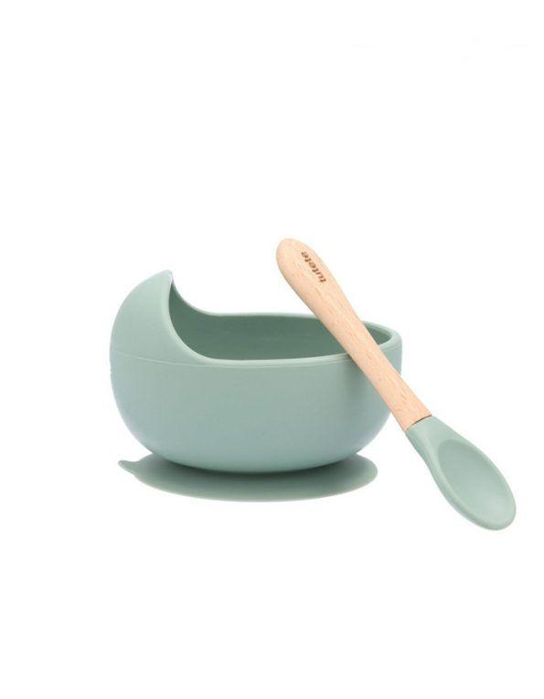 set-bol-con-ventosa-y-cuchara-de-silicona-color-sage