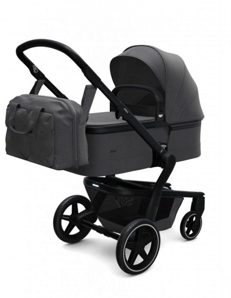Coche de paseo Joolz Hub + capazo y silla AWESOME ANTHRACITE d
