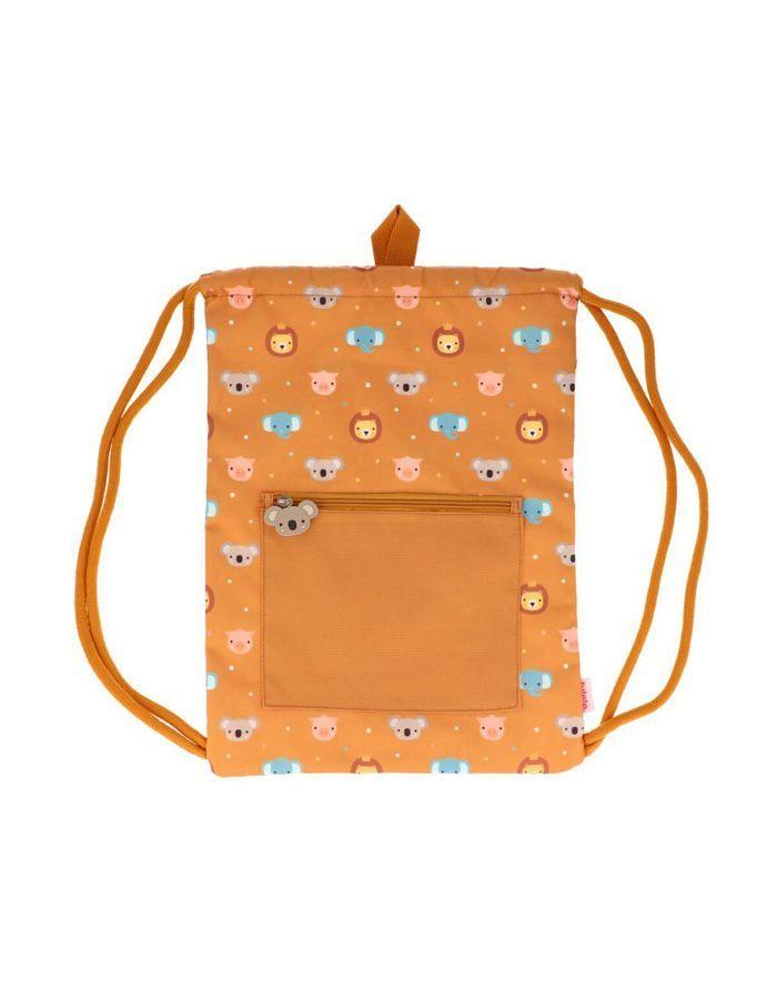 mochila saco de cordones animal friends